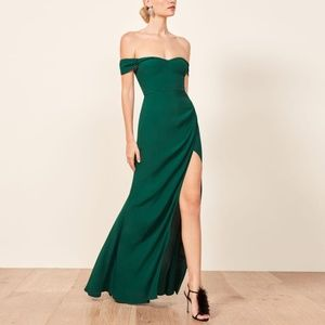 Classic!! Reformation Marilyn Dress - Emerald